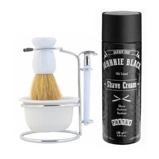 Kit Pincel com Creme de Barbear Johnnie Black